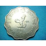 Moneda Hong Kong 2 Dolares 1982