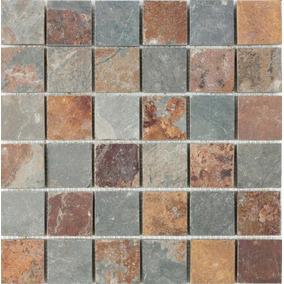 Mallas De Piedra Oxido Natural 30x30 Interior / Exterior