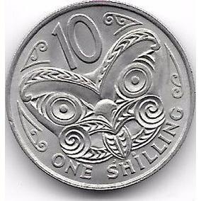 Moneda Nueva Zelanda 10 Centavos (1967) Mascara Maori