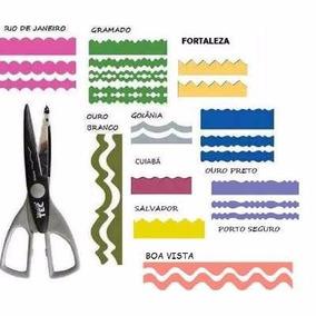 Kit C/ 10 Tesouras Artesanais 16cm P/ Papel Scrap Eva Toke E