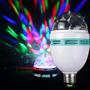 Lâmpada De Led Luz Colorida Rotativa Natal Ano Novo Festas