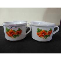 #17034 - Jogo 4 Xícaras Porcelana Decorada Floral!!!