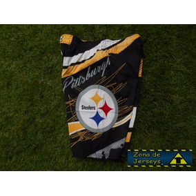 Bermuda Nfl Steelers Pittsburgh Acereros Negra Original