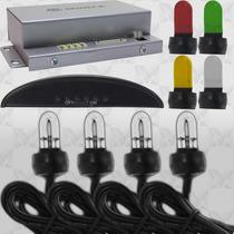Strobo Xenon 4 Lâmpadas Com Controlador + Capas Coloridas