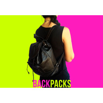 Morrales Bolsos Backpacks Mochilas Semicuero Damas