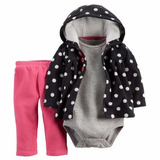 Carters Set Camperita Micropolar Body Pantalón Recien Nacida