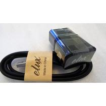 Cargador V8 Elux Con Cable Micro Usb En Color Negro -pixel-
