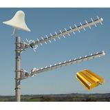 Antena 2m Amplificador Repetidor Telcel Unefon Rural 3g Gsm
