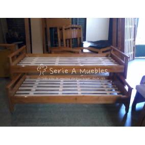 cama nido doble en madera maciza nios y adultos ideal
