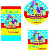 Kit 120 Adesivos Galinha Pintadinha Personalizado Lembrança