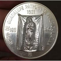 Mexico 1961 Virgen Guadalupe Cardenal Guadalajara 1/2 Oz. Pl