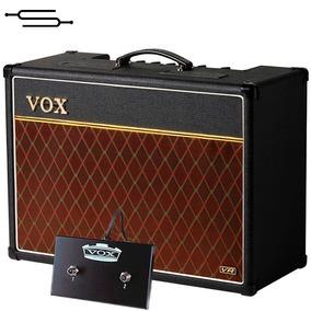Amplificador Guitarra Valvular Vox Ac15 C1 + Pedal Footswich
