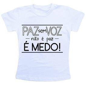 Camiseta Baby Look Feminina - O Rappa Paz Em Voz