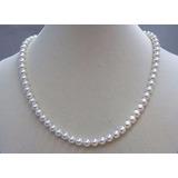 Gargantillas De Perlas Blancas