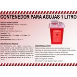 Contenedor Para Agujas 1 Litro, Sharp Container 1 Litro