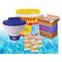 Kit Genco Balde 3x1 30 Pastilhas Cloro L.e Com 1 Flutuador
