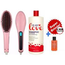 Shampoo Alisante Is My Love 500ml + Escova Alisadora+brinde