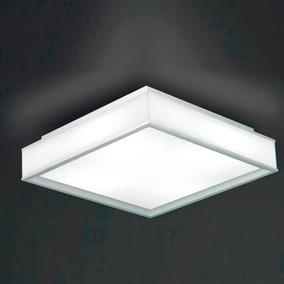 2 Un.plafon Led 18w Painel Quadrado Sobrepor Iluminação
