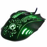 Mouse P/ Jogos Gamer 2400dpi Para Notebook Dell - Potente