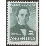 Argentina 678 Centenario Poder Judicial Gj 1266 Año 1963