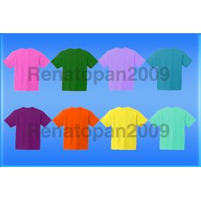 Franelas Unicolores Para Niños 100% Algodon