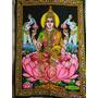 Tapiz Hindú Con Imagen De Lakshmi,diosa De La Fortuna