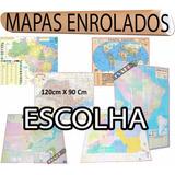 1 Mapa Enrolado Gigante Brasil Mundi América Europa - Avulso