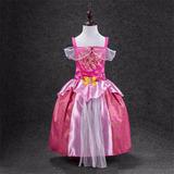 Vestido Fantasi Aurora Bela Adormecida 3-4 Anos Frete Grátis