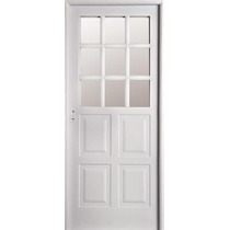 Puerta Chapa Inyectada Nexo 1/2 Reja Abrir 80x200 Cm Interm