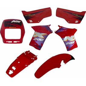 Kit De Carenagem Adesivado Honda Nx 200 94 A 97 7 Peças