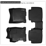 Tapete Maxfloormat Accord Sedan 2013-2017 1ra 2da Fila Negro