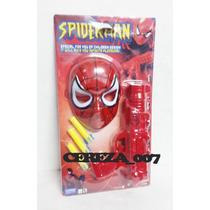 Mascara Spiderman + Pistola Grande 30cm Lanza Dardos + 3 Dar