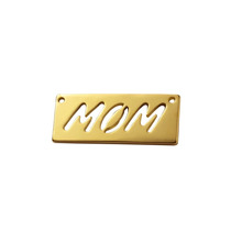 Dije Mom Mamá Y Cadena Ancla Chapa De Oro 22 Kilate