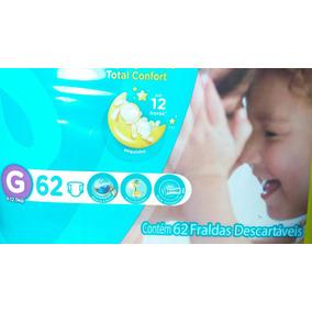 Fralda Pampers Total Confort G Pacote Com 62 Unidades