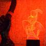Lámpara Led Rgb 3d Acrílico Spiderman Marvel Video
