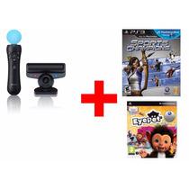 Kit Movie Com Camera Ps3 + 2 Jogos Leia O Anuncio!!