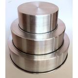Molde Torta Juego 3 Unidades Kit Tortera Aluminio Grueso 9cm