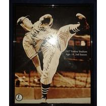 Fotografia Autografiada Firmada Bob Feller Cleveland Indians