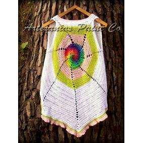 Chaleco Largo Tejido A Crochet ( Artesanal! )