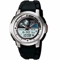Relógio Casio Aqf-102 W Lap Memory Termômetro Hora Mundial B