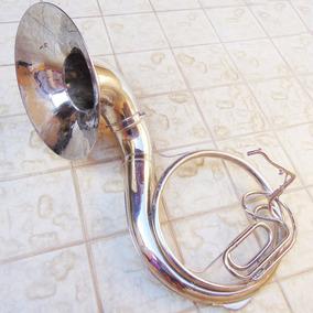 Instrumento Musical Sopro Cornetão Fanfarra Sousafone Antigo