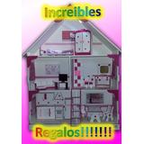 Casita De Muñecas Barbie Con Luz, Ropita Y Perchas De Regalo
