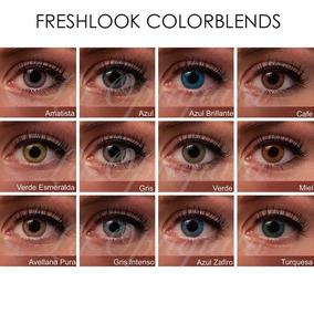Kit Doble Pupilentes Lentes Contacto Freshlook Colorblends