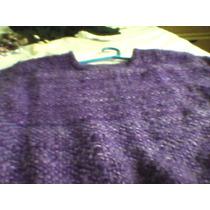 Sweter Violeta Tejido En Telar