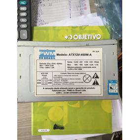Fonte Atx 24pinos Sata Pwm Do Brasil Model Atx12v-450w-a