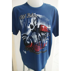 Camiseta Algodão Old Bikes Plus Size