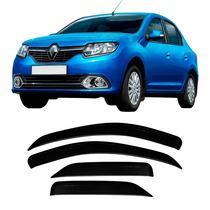 Calha Defletor Chuva Renault Logan 2014 2015 2016 Fumê