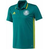 Camisa Polo Palmeiras adidas Viagem 2016 Pronta Entrega