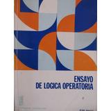Libreriaweb Ensayo De Logica Operatoria Por Jean Piaget