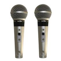 Dois Microfone Leson Sm58 P4 Vocal Profissional Promoção
